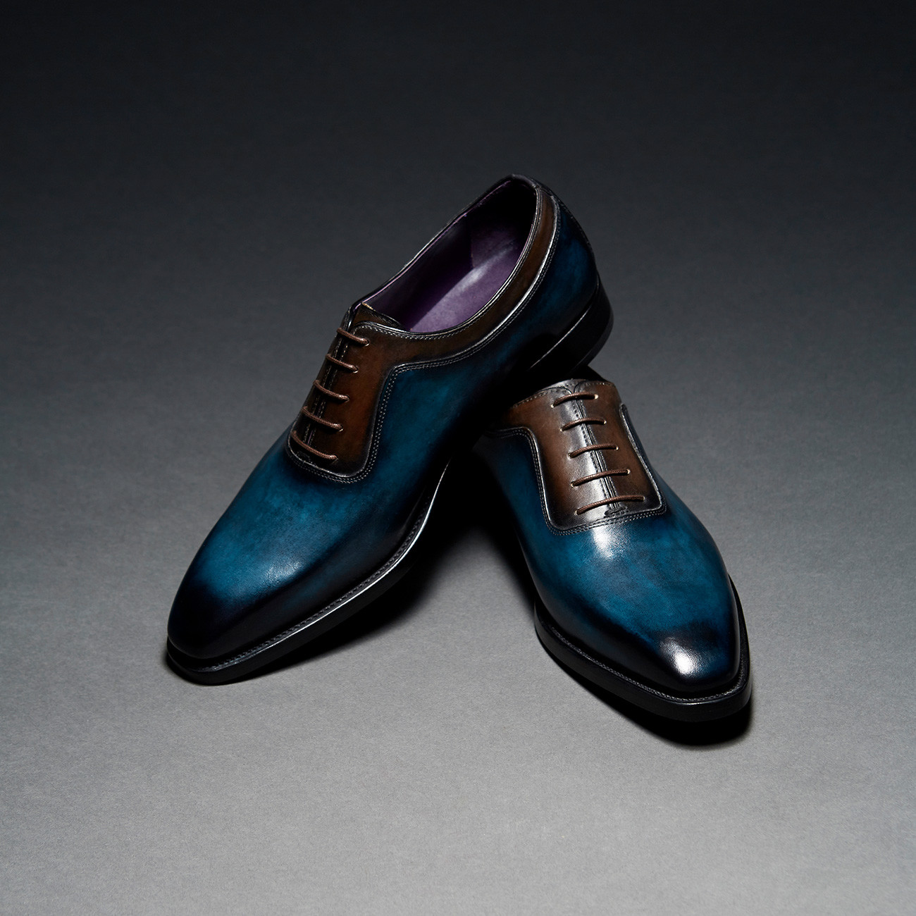 [Custommania X The shuri] PATINA PLAIN TOE OXFORD OFR No.565
