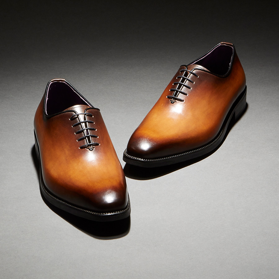 [Custommania X The shuri] PATINA PLAIN TOE OXFORD OFR No.137