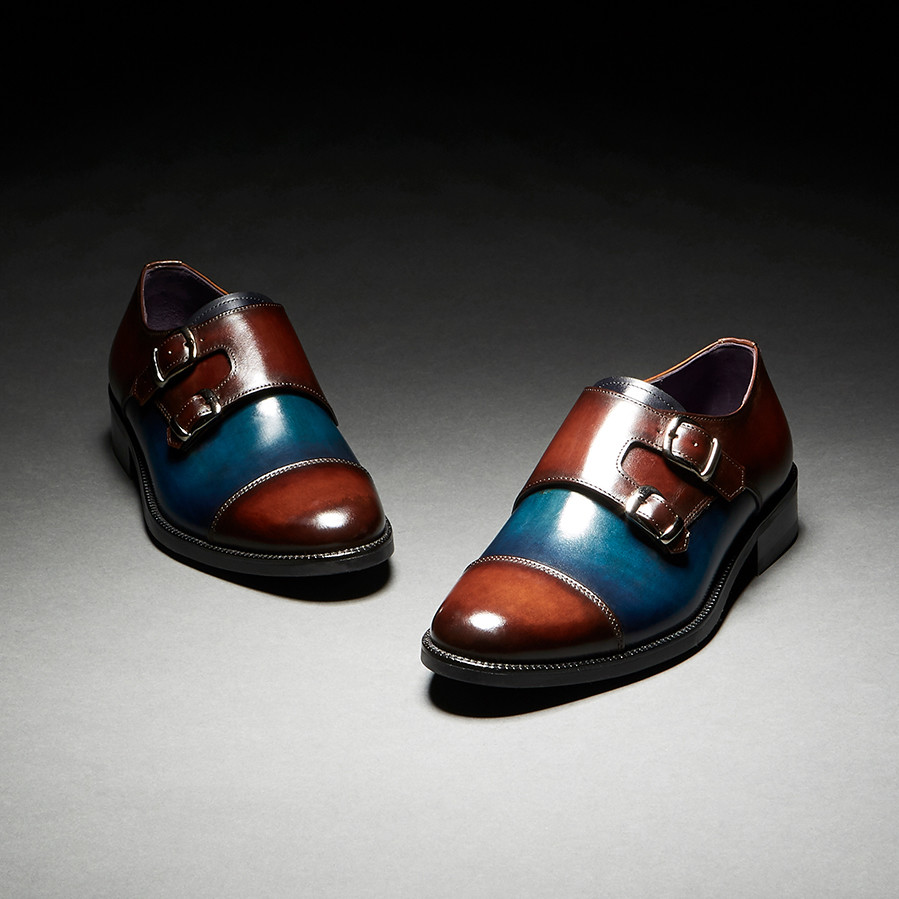 [Custommania X The shuri] PATINA DOUBLE MONK STRAP MKS No.385