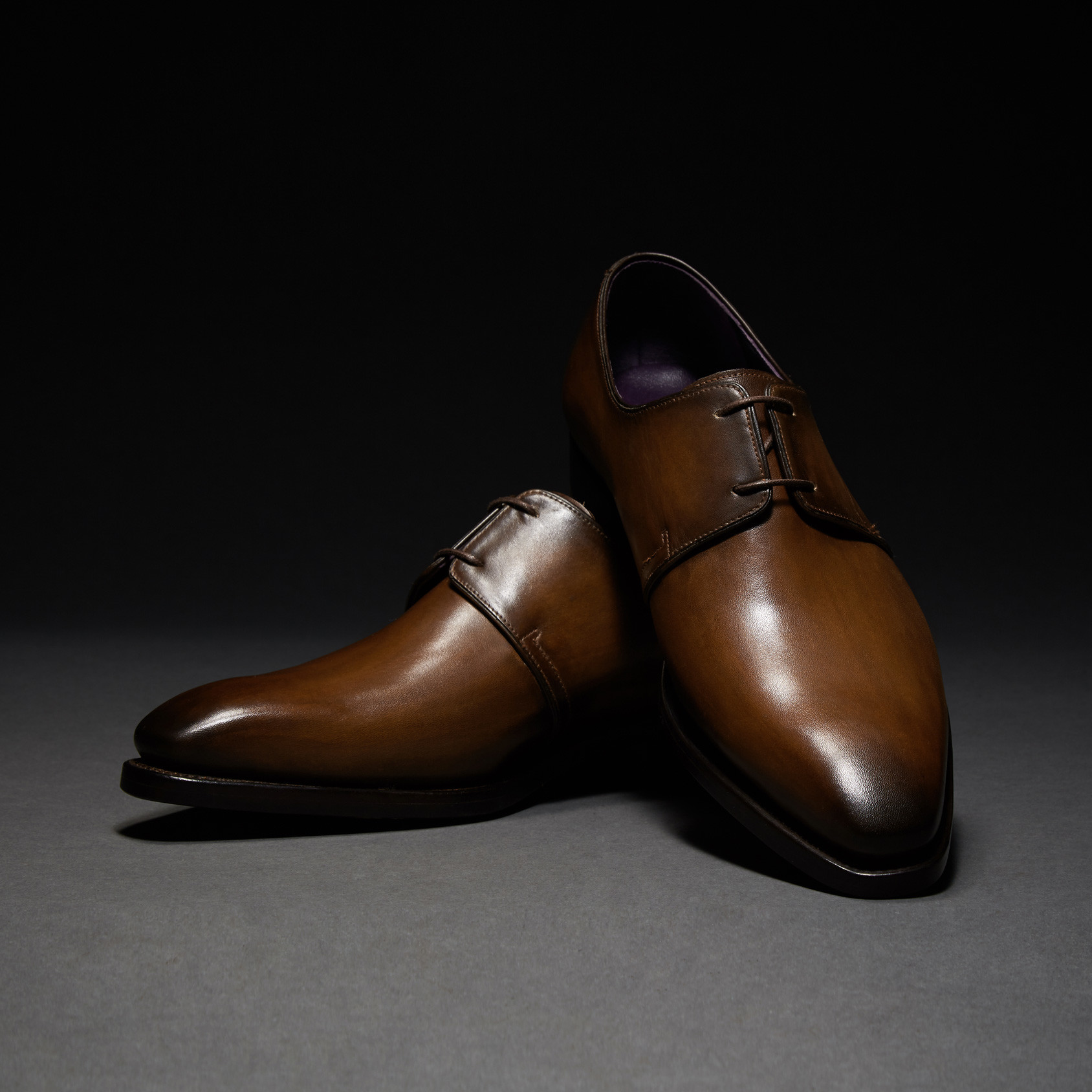 [Custommania X The shuri] PATINA PLAIN TOE DERBY DRB No.471