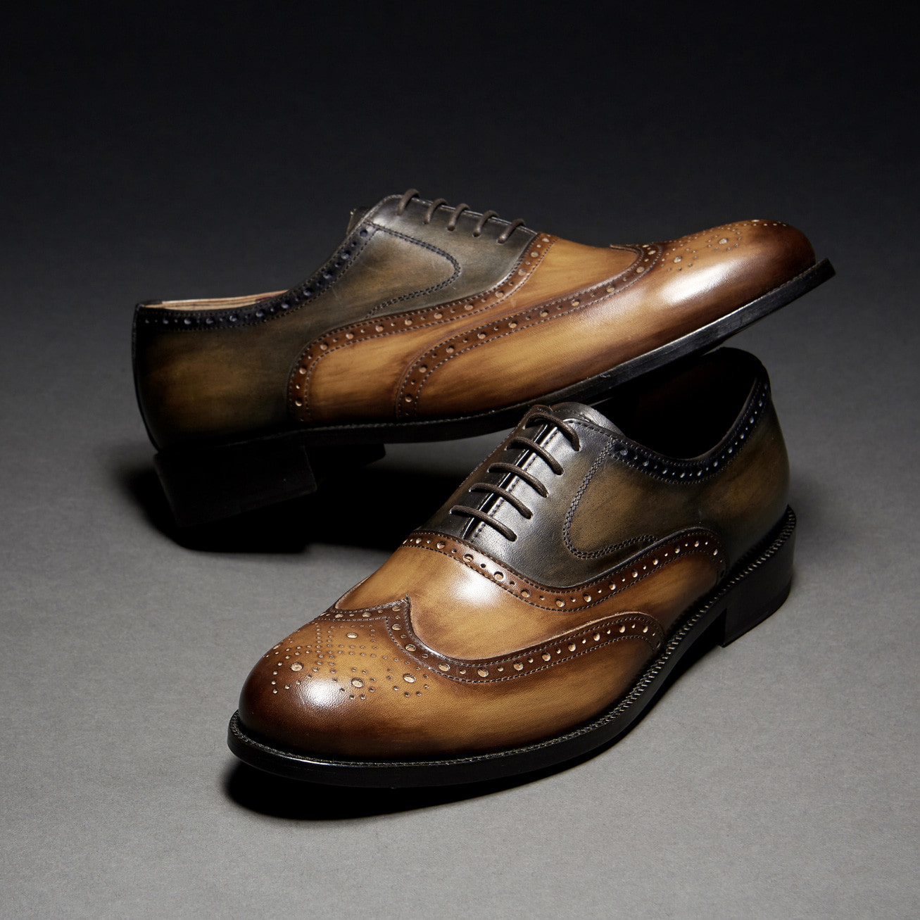 [Custommania X The shuri] PATINA WING TIP OXFORD OFR No.242