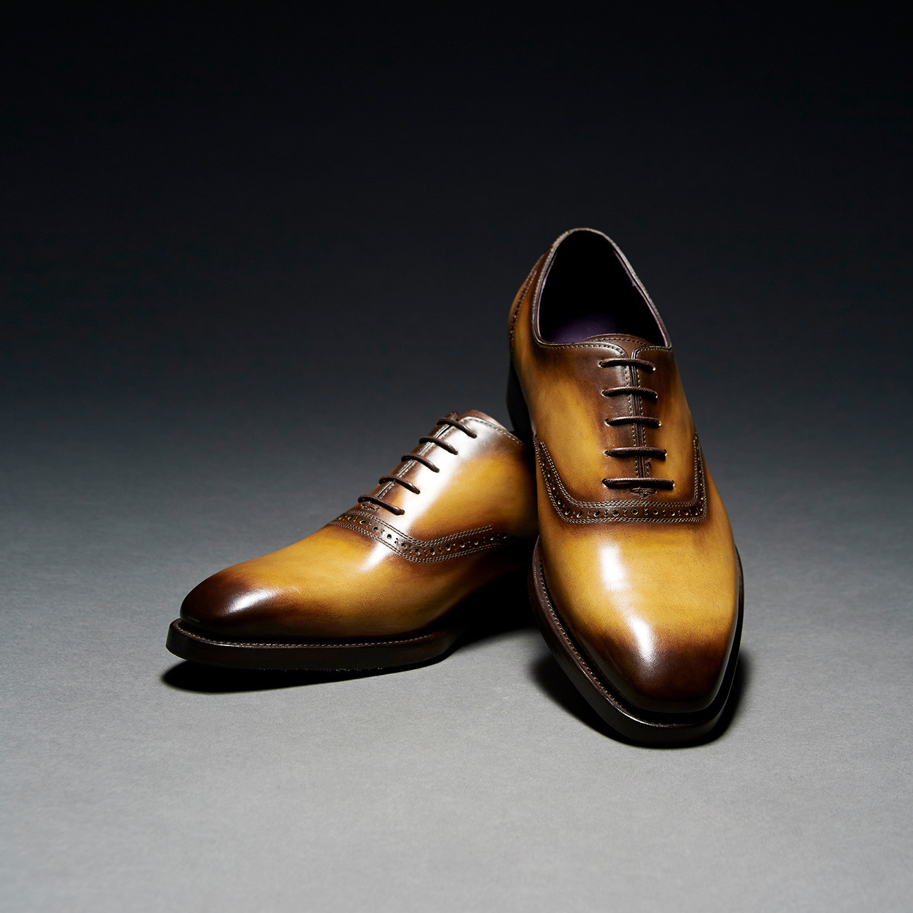 [Custommania X The shuri] PATINA PLAIN TOE OXFORD OFR No.490